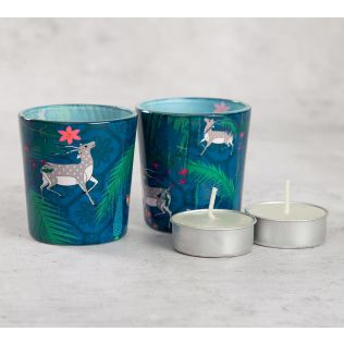 India Circus Teal Forest Fetish Tea Light Holder