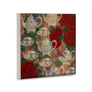 India Circus Teapot Jungle 16x16 and 24x24 Canvas Wall Art
