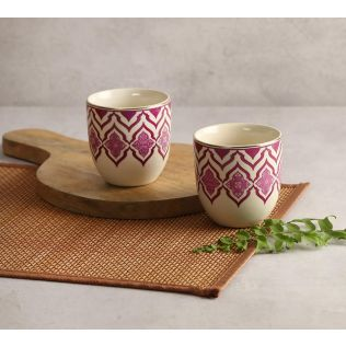 India Circus The Morning Glory Chai Kulhad (Set of 2)