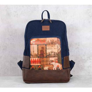 India Circus The Mughal Era Denim Backpack