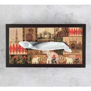 India Circus The Mughal Era MDF Tissue Box Holder