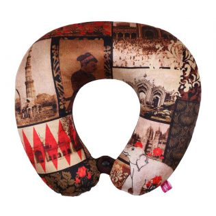 India Circus The Mughal Era Neck Pillow