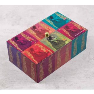 India Circus Tinted Queen Enameled Storage Box