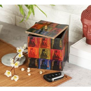 India Circus Tinted Queen Square Storage Box