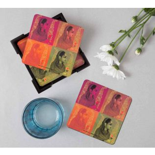 India Circus Tinted Queen Table Coaster Set of 6