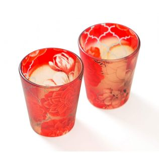 India Circus Trapped Dahlia Shot Glasses Set of 2