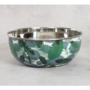 India Circus Tropical Leaves Serving Bowl