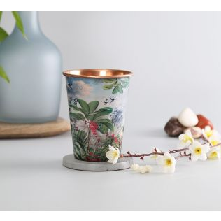 India Circus Tropical View Copper Tumbler