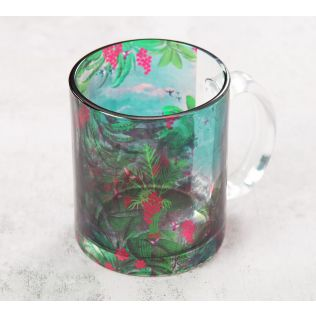 India Circus Tropical View Glass Mug