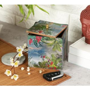 India Circus Tropical View Square Storage Box