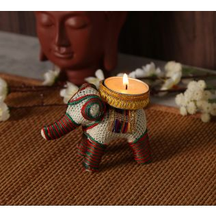 India Circus Tusker Tea Light Holder
