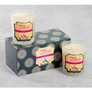 India Circus Vanilla Bean Glass Votives