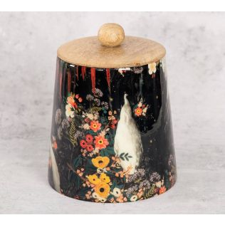 India Circus Vintage Spring Wooden Jar