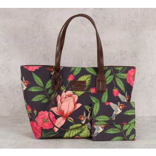 India Circus Warbled Verdure Tote Bag