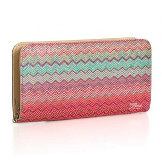 India Circus Waves of Chevron Ladies Zipper Wallet