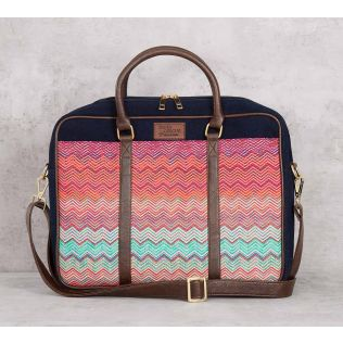 India Circus Waves of Chevron Laptop Bag