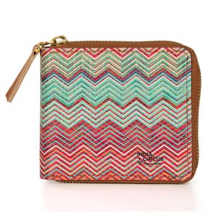India Circus Waves of Chevron Zipper Wallet
