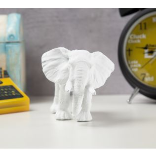 India Circus White Baby Elephant Figurine