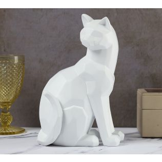 India Circus White Cat Figurine