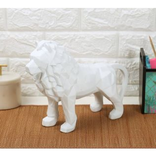 India Circus White King of Beasts Figurine