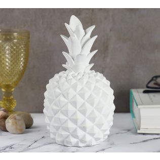 India Circus White Pineapple Decor Accent
