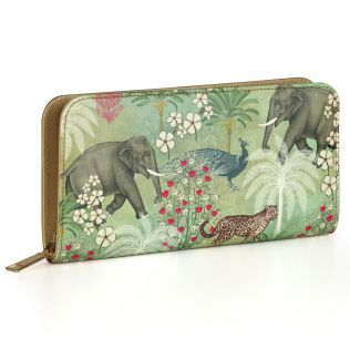 India Circus Wildlife Safari Ladies Zipper Wallet