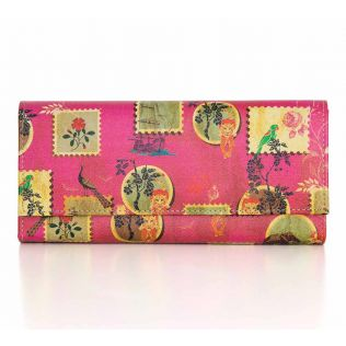 India Circus Wildlife Stamps Ladies Wallet