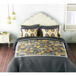 India Circus Yellow Capital Bed Sheet Set