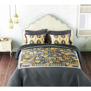India Circus Yellow Capital Bed Sheet Set