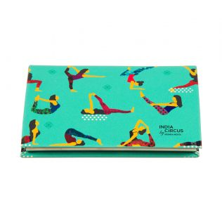 India Circus Yoga Emoji Visiting Card Holder