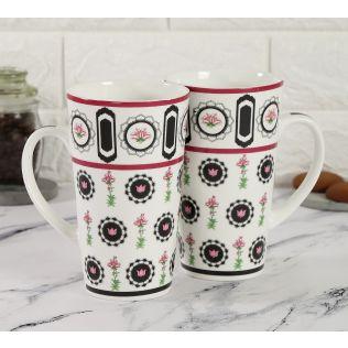 India Circus Appliqued Harmony Conical Mug (Set of 2)