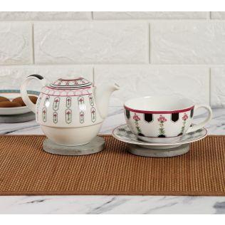 India Circus Appliqued Harmony Tea for One