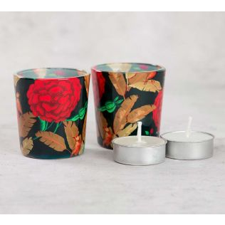 India Cirucs Bayrose Romance Tea Light Holder Set of 2
