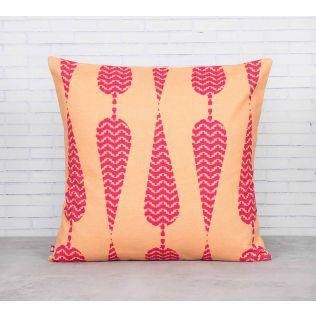 India Circus Conifer Spades fuchsia Pink Cotton Cushion Cover