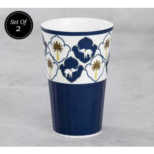 India Circus Ivory Parade Fantasy Tall Tumbler