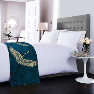 Legend of the Cranes Bed Runner