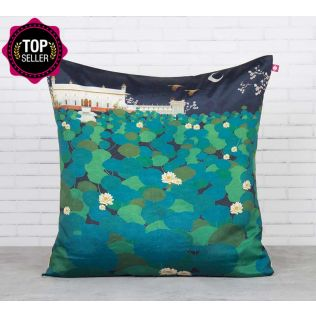 Lotus Leaf Reservoir Blended Taf Silk Cushion Cover