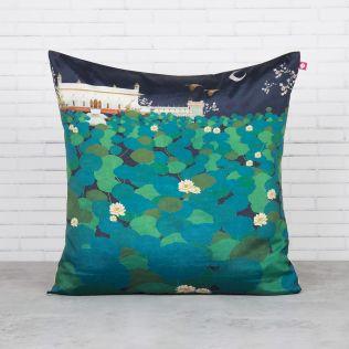 Lotus Leaf Reservoir Blended Taf Silk Cushion Cover