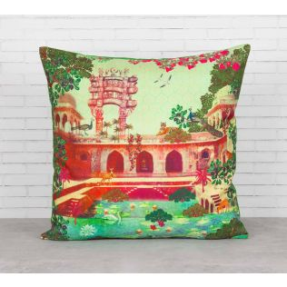 India Circus Mammalian Picnic Cushion Cover