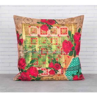 India Circus Rose Motley Cushion Cover
