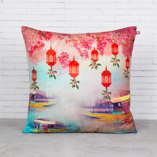 Scarlet Shadows Blended Velvet Cushion Cover