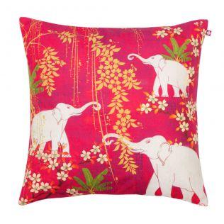 Scarlet Tusk Poly Velvet Cushion Cover