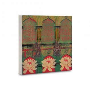 Arches and Flowers Canvas Mounted Wall Art