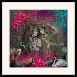 Radha & Krishna Framed Wall Art