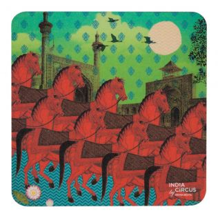 Stallions of Command Rubber Coaster - (Set of 6)