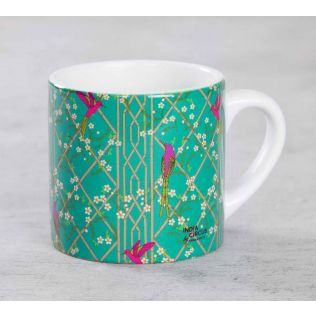 India Circus The Rose finchs Window View Expresso Mug
