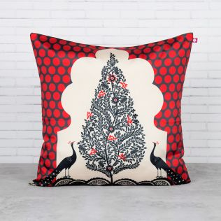 Tree of Dreams Blended Taf Silk Cushion Cover