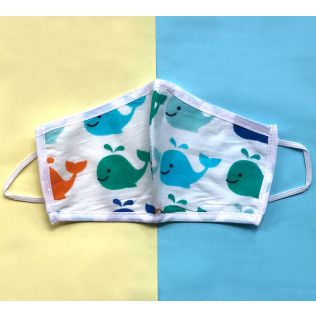 India Circus Whale Print Kids Protective Face Mask
