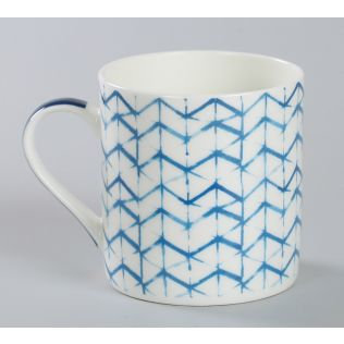 India Circus Zig Zag Stripes Coffee Mug Set of 6