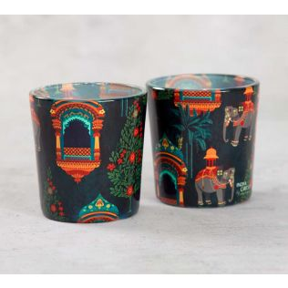 India Circus Sovereign Cavaliers Tea Light Holder Set of 2